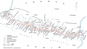 Map of the Senda Pirenaica GR11