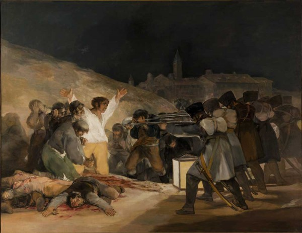 The third of May by Goya passed through la Vajol in 1939