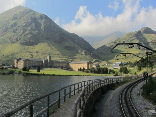 Núria (1960m above sea level) is accessible by train
