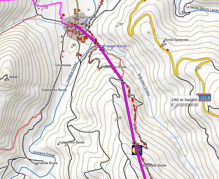 Same route created in Topo Pirineos