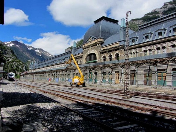 Canfranc Station - semi-derelict for 40 years but the prospects are brighter