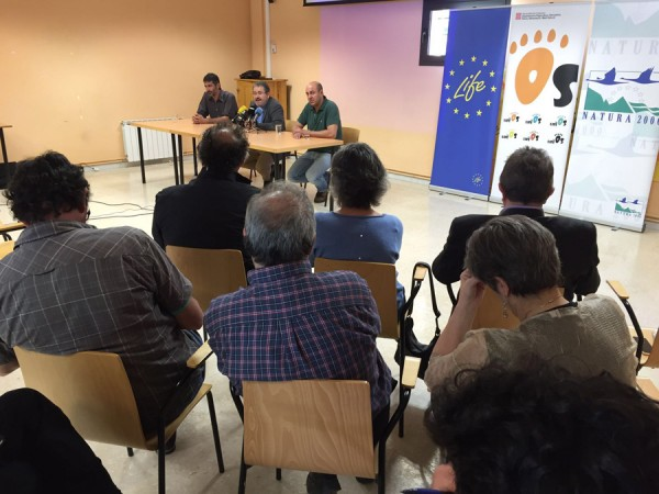 Press conference on the rewilding project in La Farga