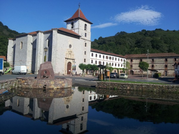 Day 3. Urdax mill pond with the church and monastry.