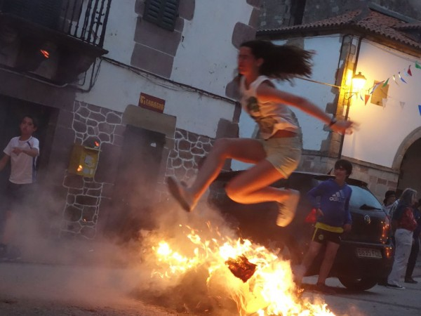 Day 4. Arizkun. On midsummer eve the church bells toll insistently. Fires are lit in the streets. Jumping over them purifies the spirit.