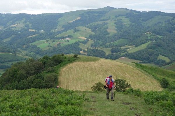 Day 6. Walking above Aldudes with friends.