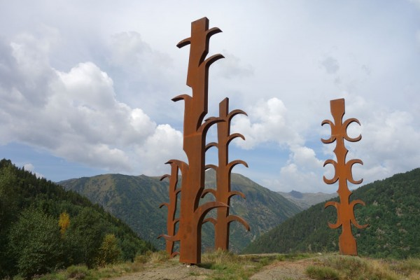 Day 41. Sculpture near the botanical gardens above El Serrat.