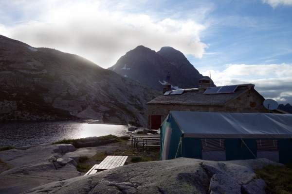The Arrémoulit hostel on the HRP. If you don't book you may have to sleep in the tent. At 2257m it could be cold.