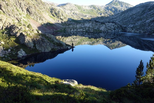 Estany de Romedo de Dalt near the Certascan hostel on the GR11