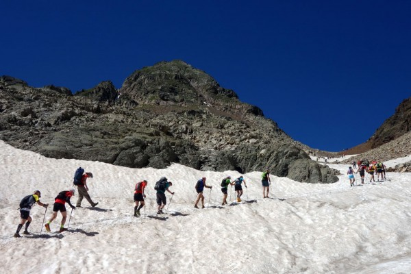 Some of the runners encountered on the HRP just below the col des Mulets, near Vignemale.