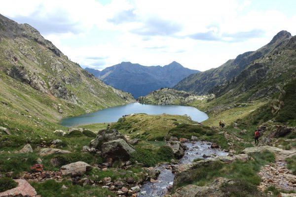 Estany de Sotllo, between the Refuge du Pinet and Valferrera on the Porta del Cel (Sky's Door) Trek